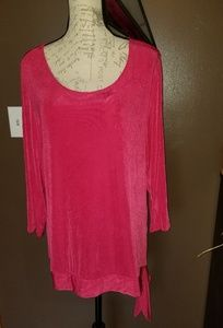 Chico's travelers long sleeve shirt. Pink, size 3